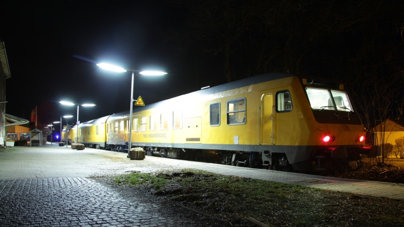 Messzug mit 218 477-8 - in Bad Steben - Foto: Jan Bulin, Bad Steben