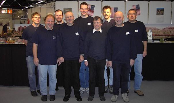 Die Mannschaft auf der Consumenta 2007 - Foto: Sammlung Volker Seidel, Münchberg