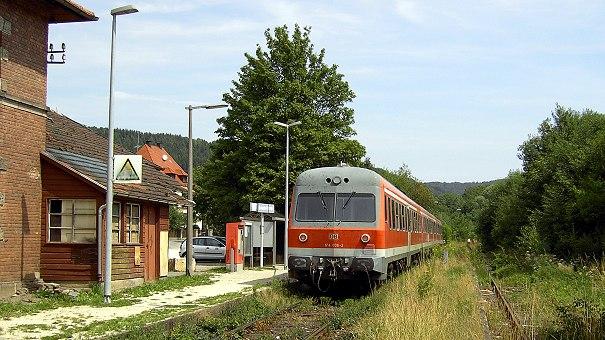 VT614035/036 mit RB 35780 in Simmelsdorf-Hüttenbach - Foto: Volker Seidel, Münchberg